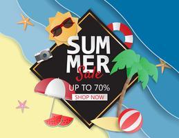 Mise en page de fond de vente de l'été pour affiche, flyer, brochure, bannières.