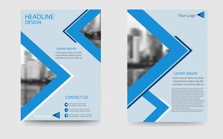 présentation de la brochure blanche et bleue, modèle de flyer de l'entreprise dans un style moderne vecteur