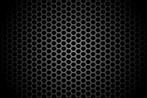 abstrait technologie cercle trou ombre toile de fond concept de fond métallique sur hi tech future design