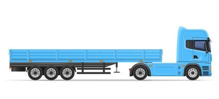 illustration vectorielle de camion semi remorque