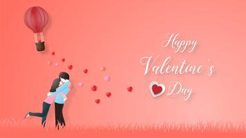 Créatif du concept de la Saint-Valentin amour. vecteur