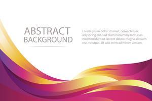 fond d'écran et bannière colorés de fond abstrait vague violette et orange vecteur