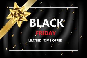 vendredi noir réduit pour les achats en ligne bannière