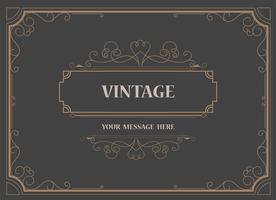 Modèle de vecteur de carte de voeux d'ornement Vintage