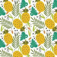 Motif d'ananas tropical vecteur