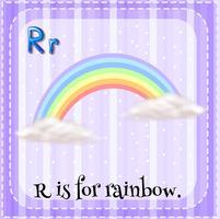 Flashcard de R est pour arc-en-ciel