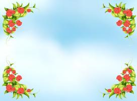 Cadre rose vecteur