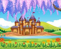 Château construit au bord du lac