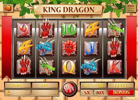 Modèle de jeu avec thème dragon vecteur