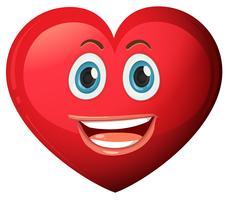 Un coeur avec un visage souriant vecteur
