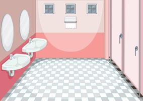 Un fond de toilette propre
