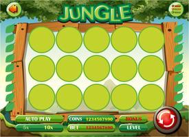 Modèle de jeu avec le thème de la jungle vecteur