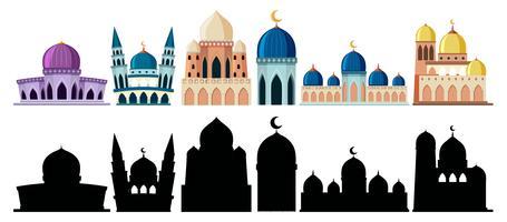 Mosquée de style différent vecteur