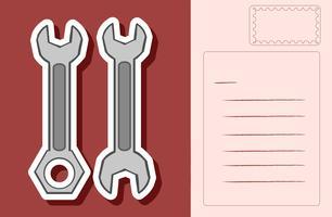 Conception de carte postale avec deux clés