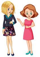 Ensemble de personnage de jeune femme vecteur