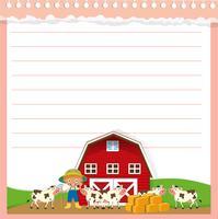 Conception de papier avec thème agricole vecteur