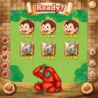 Modèle de jeu avec fond de singe
