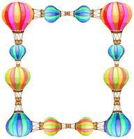Modèle de cadre avec des ballons