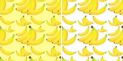 Fond transparent avec des bananes jaunes vecteur