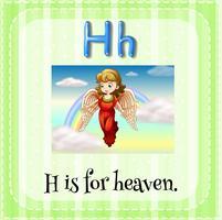 Flashcard de la lettre H
