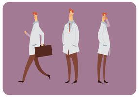 Mouvement Style Vecteur Du Docteur