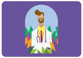 Caractère de médecin masculin