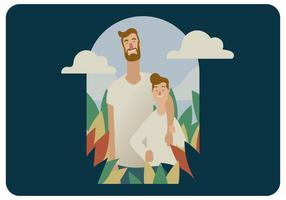Vecteur Potrait Fête des Pères