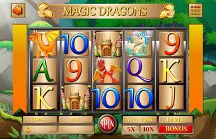 Modèle de jeu avec des dragons et des châteaux