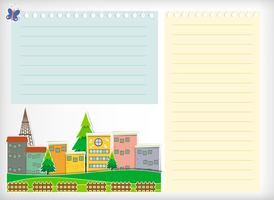 Conception de papier avec des bâtiments