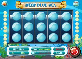 Modèle de jeu avec fond sous-marin vecteur