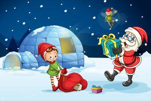 Père Noël et les enfants