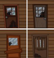 Fenêtres et portes cassées
