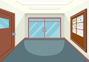 Un couloir d'école vide
