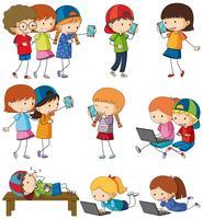 Doodle activités pour enfants sur blanc
