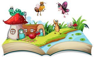 Insecte sur livre ouvert