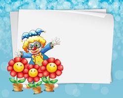 Bannière et clown vecteur