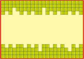 Modèle de cadre avec fond de blocs verts
