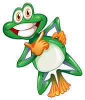 Une grenouille souriante vecteur