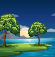 Les couleurs bleues et vertes de la nature