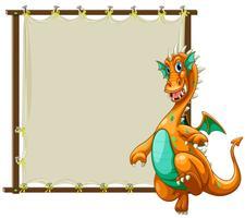 Dragon et cadre vecteur