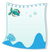 Un gabarit vide avec un poisson