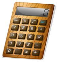 Calculatrice avec cadre en bois vecteur