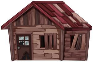 Vieille maison en bois en mauvais état