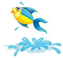 Un poisson à la mer vecteur