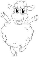 Contour d'animaux pour moutons vecteur