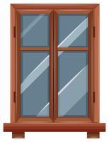 Fenêtre avec bordure en bois
