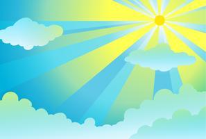 rayons lumineux dans le ciel vecteur