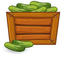 Concombre sur bannière en bois vecteur