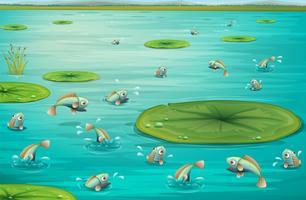 des poissons vecteur