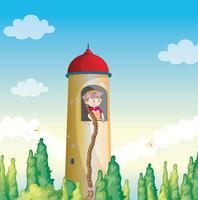 une fille dans un phare